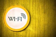 Wifi signalering royaltyfria bilder