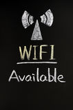 Wifi Signalzeichen Stockfoto