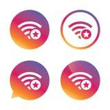 Wifi star sign. Favorite Wi-fi symbol. Wireless. Stock Image
