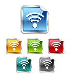 Wifi sticker, label, icon, button, sign Stock Photos