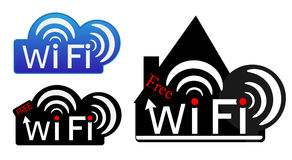Wifi stickers Stock Photo