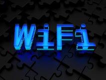 WiFi (strefy lokalnej bezprzewodowa sieć komputerowa) Obrazy Royalty Free