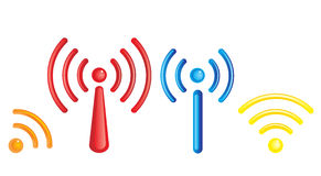 Wifi symbol Royalty Free Stock Photos