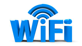 Wifi symbol royaltyfri illustrationer