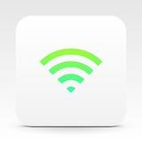 Wifi-Symbol auf weißer Textbox Stockfoto