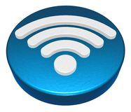 Wifi symbol button on white background Royalty Free Stock Photography