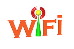 Wifi. Symbol color text of wifi Royalty Free Stock Photo