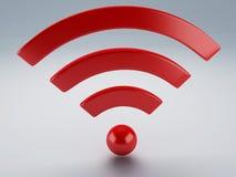 Wifi symbol 3d Royaltyfria Foton