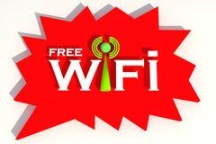 Wifi. Symbol of Free wifi royalty free illustration