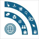 Wifi-Symbol-Hintergrundvektor Lizenzfreies Stockfoto