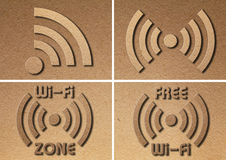 WiFi Symbol Paper Royalty Free Stock Image
