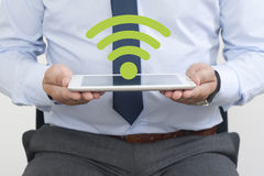 Wifi Symbol on the Tablet Royalty Free Stock Image