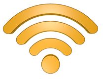 Wifi symbol on white background Stock Photo
