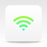 Wifi symbol on white text box Stock Photo