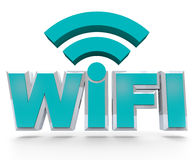 WiFi - symbolisation de la zone sans fil de point chaud Images stock