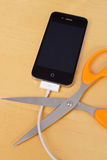 Wifi Sync. And Cutting The USB Cable With Iphone New Capabilities Royalty Free Stock Image