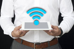 Wifi on the Tablet Royalty Free Stock Photography