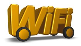 Wifi tag on wheels Stock Photos