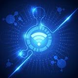 Wifi technologii systemu tło, wektorowa ilustracja Zdjęcie Royalty Free