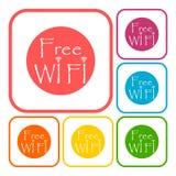 Wifi tecken, Wi-fi symbol, symbol för trådlöst nätverk, Wifi zonsymbol Royaltyfri Bild