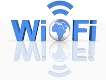 WiFi Thechnology. Image of  WiFi Thechnology in 3D Stock Photography