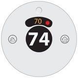 Wifi-Thermostat Stockfotografie