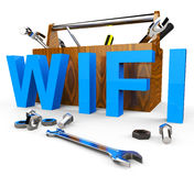 Wifi Tools Shows World Wide Web And Access Stock Image