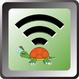 Wifi turtle Royalty Free Stock Photography