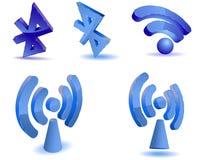 WiFi und bluetooth Symbole Lizenzfreies Stockbild