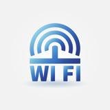 WiFi vector blue icon Stock Photos