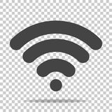 WiFi vector icon on transparent  background. Wi-Fi logo illustra. Tion Royalty Free Stock Photography