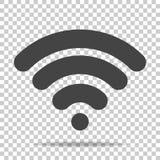 WiFi wektorowa ikona na przejrzystym tle Fi loga illustra ilustracja wektor
