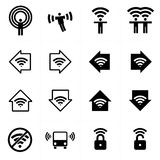 WiFi wi-fi theme icons collection Royalty Free Stock Photos