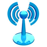 Wifi (wireless) blue modern icon Stock Image