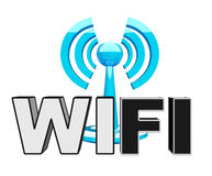 Wifi (wireless) blue modern icon Royalty Free Stock Photos