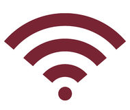 Wifi wireless internet signal flat icon. Modern Royalty Free Stock Photography