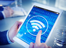 Wifi Wireless Signal Network Connection Technology Concept Royalty Free Stock Image