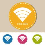 WiFi Wireless Wlan Internet Signal Flat Icon For Apps Or Website. S - Colorful Vector Set Stock Image