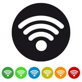 Wifi Wireless Wlan Internet Signal - Flat Icon For Apps And Websites. Wifi Wireless Wlan Internet Signal - Colorful Vector Illustration - Flat Icon For Apps And Royalty Free Stock Images