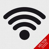 Wifi Wireless Wlan Internet Signal Flat Icon For Apps Or Websites. Isolated On Transparent Background stock illustration