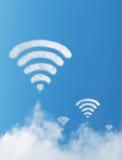 Wifi-Wolkenzeichen Stockfotos