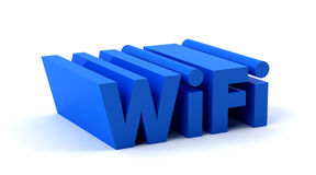 Wifi. Word in blue color Royalty Free Stock Photos