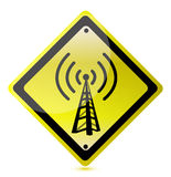 Wifi yellow sign Stock Photography