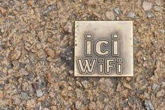 Wifi znak Zdjęcie Stock