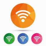 Wifi znak włącznika wyposażenia fi sieci rf symbolu wi bezprzewodowi Sieć bezprzewodowa ilustracja wektor
