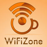 Wifi-Zone Lizenzfreie Stockbilder