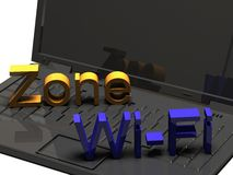 WiFi Zone Royalty Free Stock Photography