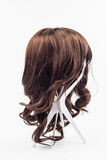 Wig brown hair Stock Photography