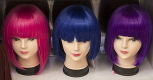 Color wigs Royalty Free Stock Images