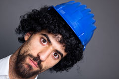 Wig and Helmet Stock Photography